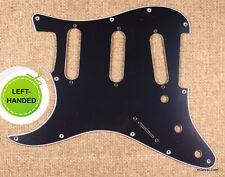 3 Ply Left Handed Stratocaster Strat Standard Guitar Pickguard -Black B42