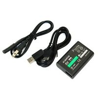 US Plug AC Power Adapter Supply Convert Charger & USB Data Cable For PS Vita PSV