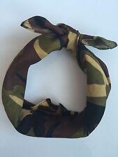 Women Men Girl Camouflage Party Camo army green Bandana Hair Headband Wrap Scarf