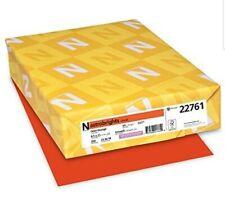 NEENAH PAPER Astrobrights Cover 22761 Cardtock,Orbit Orange,250 CT. 250 Count
