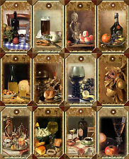 12 COOKING FOOD WINE FRUIT HANG / GIFT TAGS FOR SCRAPBOOK PAGES (07)
