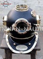 Vintage Black Edition U.S Navy Mark V Diving Divers Helmet Black & Brass  Finish