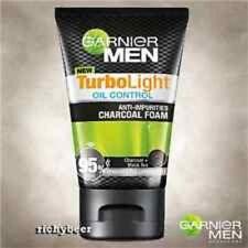 100ml GARNIER for MEN TurboLight Oil CHARCOAL BLACK Foam Anti Acne Cleanser Wash