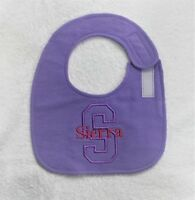Personalized Side Fasten Flannel Bib//Burp Cloth Set-solid colors