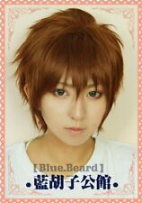 Card Captor Sakura CLEAR CARD Li Syaoran Gold brown mix Short Cosplay hair wig