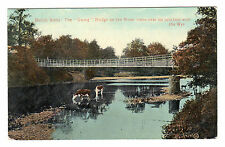 Swing bridge - Builth Wells Photo Postcard c1915