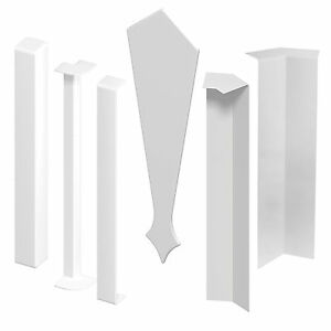 Fascia Board Trims Straight Connector and 90/135 deg Corner Joints Finial uPVC