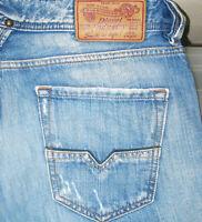 *HOT Men's DIESEL @ LARKEE 8YF - STRAIGHT LEG DISTRESS Jeans 31 x 32 (Fit 32x33)
