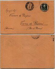 REGNO-50c+10c Morte Vitt. Emanuele(239)-Busta Genova->Torre de Passeri 9.11.1929
