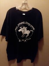 Neil Young Black 2XL T-shirt Crazy Horse Heart Of Gold Harvest Journeys