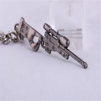 1pc Mini Military AWM Sniper Weapon Gun Model Metal Pendant Keychain Key Ring