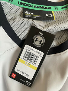 UNDER ARMOUR Grey Black Soft Shell Loose Windcheater Pull On Jacket M RRP £60