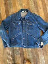New listing Vintage Wrangler Denim Jacket No Fault Denim Usa Blue Mens Sanfor-Set Trucker