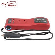 150W 12V AUTO POWER INVERTER CARICABATTERIE 2 USB AC 220V Sigaretta Accendino CONVERTITORE