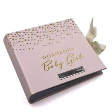 Personalised Gorgeous Baby Girl Photo Album 80 Pictures Gold and Silver CG516-P