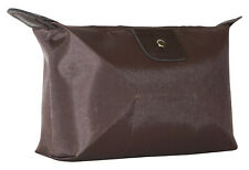 Brown Blank Solid Waterproof Cosmetic Makeup Bag Travel Organizer Large