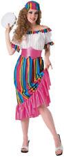 South of the Border Mexican Fiesta Senorita Spanish Halloween Adult Costume O/S