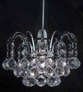 Oriel Ball Drop Pendant Clear Chandilier Style Droplet Acrylic Crystal Beads New