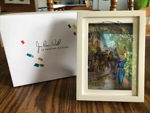 """Jean Pierre Weill Vitreography 3D Painting On Glass Framed """"Ruth"""" Box Retired"""