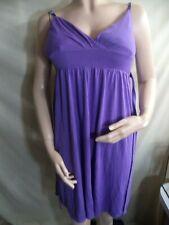 Player Gold Womans Dress Light Purple Cotton/Rayon Spaghetti Straps Sz Large VGC