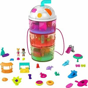 Polly Pocket Spin 'n Surprise Compact Playset New Kids Gift Set 2021