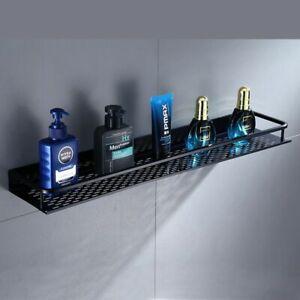 Bathroom Shelf Black Aluminum Wall-mounted Square Shampoo Shelf Cosmetic Shelves