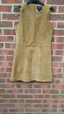 Monkl Brown Suede Leather Dress UK 8 FR 36 D 34