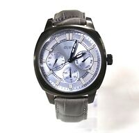 New Guess W0660G2 Grey Leather Band IP Steel Case Chronograph Men Watch