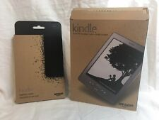 Amazon Kindle eBook Reader D01100 4th Gen 2G Wi-Fi Graphite W/ New Leather Case