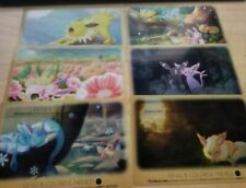 Pokemon Center Original Clear Card Set Eevee and Colorful Friends (6 Cards Set)