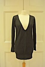 INFLUENCE from NEW LOOK Black Sparkle, Fine Knit, V-Neck Sweater, Sz M