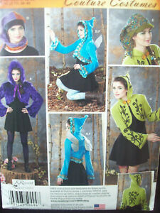 Simplicity Pattern S0494 Jacket Hat Wings Fairy Nymph Costumes Size 6-12  UC/NOS