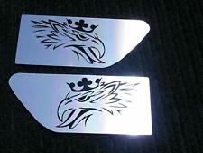2 pcs. Eagle Wing Spoiler Mirror Polished Stainless Steel for All SCANIA Truck