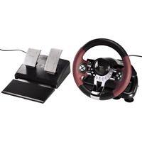 Gaming Lenkrad für PS3 und PC Dual Vibration mit Gas und Bremspedal Racing Whee
