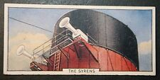 RMS QUEEN MARY  FUNNEL SYRENS   Cunard Line  Original 1930's Vintage Card CAT B