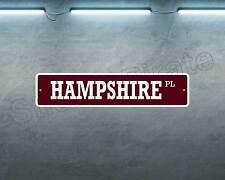 "*Aluminum* Hampshire Pig BBQ BROWN 4"" x 18"" Metal Novelty Street Sign  SS 1652"