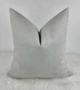 "18""x18"" John Lewis Knitted Soft Velvet Silver Light Grey Fabric Cushion Cover"