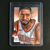 Mikal Bridges Phoenix Suns 1/1 hand drawn original art sketch card aceo Rc