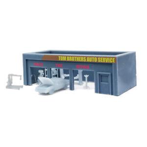 Outland Models Railway Scenery Auto Service Shop & Accessories 1:220 Z Gauge
