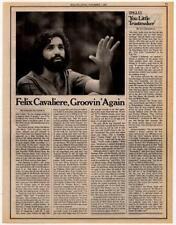 Felix Cavaliere Rascals Interview/article 1974