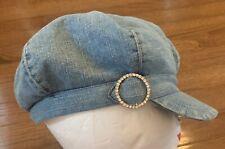 Vintage LIMITED TOO Denim Jean Hat One Size LIGHT DENIM