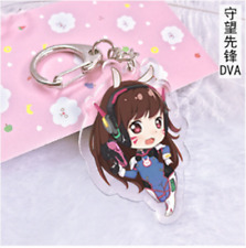 Hot game Overwatch hero D.Va Acrylic Key Ring Pendant Keychain Figure Gift