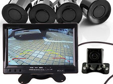 "Car Dashboard 7"" HD Rear View Monitor with Backup Camera Rear Parking Sensor"