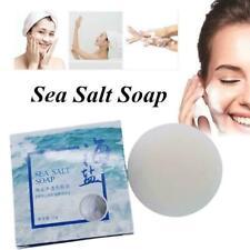 Goat Milk Sea Salt Soap Remove Mites Pimple Deep Cleaning x 1 Soap W6V6