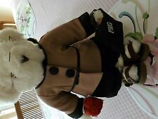 "Vermont 17"" White Teddy Bear Dressed as a Teacher with Suede Sandals"