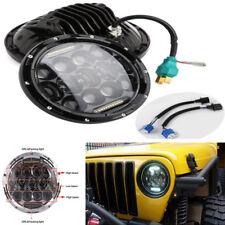 7'' 75W LED Car Bike Headlight DRL Hi/Lo Beam For Jeep Wrangler CJ JK TJ +Harley