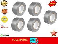 12 Duck Duct Gaffa Gaffer Waterproof Cloth Tape Silver Black 50mm x 50m 1 2 3 6