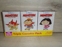 3 VINTAGE LITTLE MONSTERS BY TONY GARTH CASSETTE TAPES BUNDLE SONGS AND STORIES