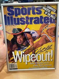 John Stockton AUTO Signed Sports Illustrated Magazine 6/1/98 Utah Jazz HOF