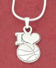 Basketball Necklace Charm Pendant and Chain Basketballer